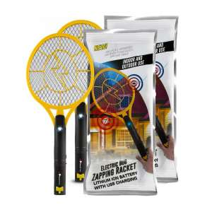 Beastron pack of 2 Rechargeable Bug Zapper Racket