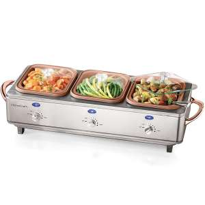 HomeCraft DCBS15 Deluxe Cook and Serve Buffet