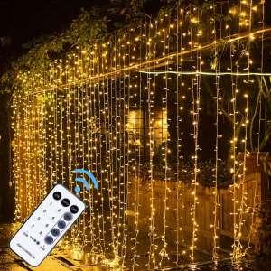 MAGGIFT 304 LED Curtain String Lights
