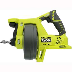 Ryobi P4001 One+ 18V Lithium Ion All-In-One 25 Foot Drain Auger for Sinks or Toilets