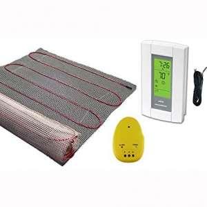 10 Sqft Mat, Electric Radiant Floor Heat Heating System with Aube Digital Floor Sensing Thermostat