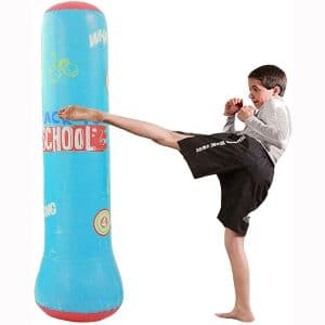 MrsharkFit Inflatable Punching Bag Free Stand, Heavy Training Bag, Adults Teenage Fitness Sport Stress Relief Boxing Target for Women and Kids Child Toddle