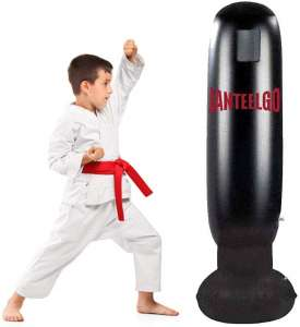 GEMGO Inflatable Kids Punching Bag, Free Standing Boxing Bag for Immediate Bounce-Back for Practicing Karate, Taekwondo