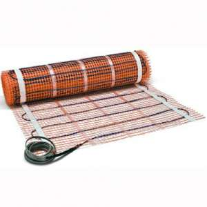 """SunTouch Mat (120V) Floor Heat Kit 20 sq ft, 24"""" x 10' Configurable to Fit Your Space, Easily Installs Before Tile:Stone for Added Comfort Includes User"""