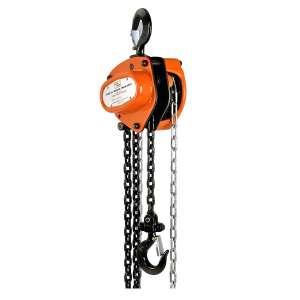 SuperHandy Manual Chain Block Hoist Come Along 1 TON 2200LBS Capacity 10FT Lift Heavy Duty Hooks Commercial Grade Steel