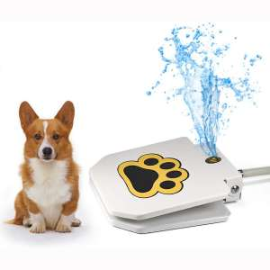 Videosystem Outdoor Dog Drinking Water Fountain Step On,Easy Paw Activated Drinking Pet Dispenser