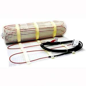 30 Sqft Electric Floor Heating 120 Volt System Includes 7-Day:4 Event Programmable GFCI Thermostat
