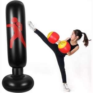 63 Inch Inflatable Punching Bag Standing Boxing Bag Training Punching Bag