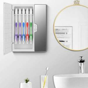 LNDMA UV Sanitizer Toothbrush Holder, Disinfection Box Germ Free for Toothbrush