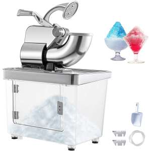 VEVOR 110V Commercial Electric Ice Shaver 440lbs h Heavy Duty Snow Cone Maker