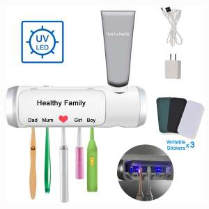 Aquatrend UV Toothbrush & Toothpaste Holder, with Drying & Build-in Fan