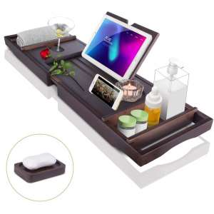 Bath Tub Tray Caddy, Bathtub Shelf Table, Clawfoot tub Accessories