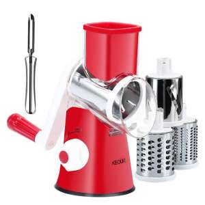KEOUKE Rotary Cheese Grater Handheld Chopper Grinder
