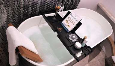 image feature bath tub caddies