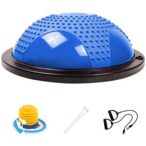 Bliss Extra Exercise Ball Pro Massage Balance Ball Half Ball Balance Trainer with Resistance Bands & Pump