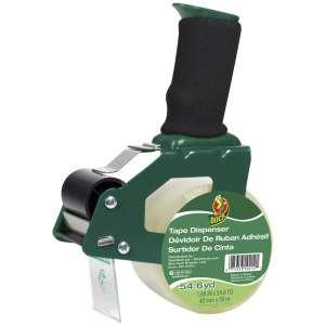 Duck Brand Standard Tape Gun with Foam Handle, Includes 1 Roll of 54 Yard Standard Tape