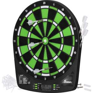 Fat Cat Sirius 13.5 Electronic Dartboard, Compact Size for Easy Install, Backlit Cricket Scoreboard, Easy to Use Button Interface