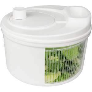 Greenco Easy Spin Manual Salad Spinner, 3.2 quart, White