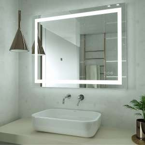 HAUSCHEN 32 X 40 Inches LED Lighted Bathroom Mirror