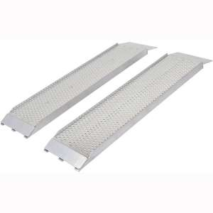 "Guardian S-368-1500-P Dual Runner Shed Ramps with Punch Plate Surface - 8"" Wide, 3' Long"