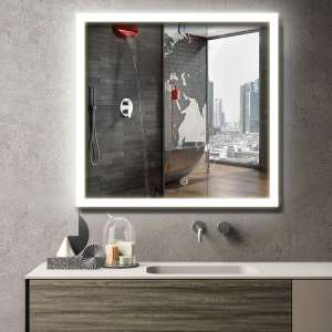 MAVISEVER 36 X 36 Inches LED Lighted Bathroom Mirror