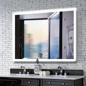 MAVISEVER 40 X 32 Inches LED Lighted Bathroom Mirror