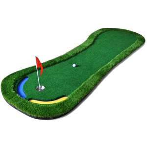 PGM 9.84 FT Golf Putting Green System Professional Practice Green Long Challenging Putter Indoor