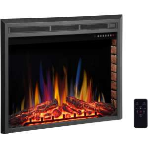 R.W.FLAME 36 Electric Fireplace Insert,Freestanding & Recessed Electric Stove Heater,Touch Screen,Remote Control