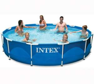 Intex 12ft x 30in Metal Frame Pool with Filter Pump