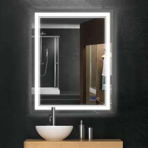 Keonjinn 36 x 28 Inches Bathroom Mirror Anti-Fog Wall Mounted Mirror