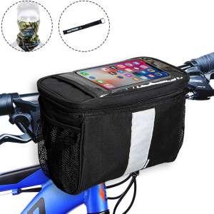MATTISAM Bike Handlebar Bag, Bike Basket with Mesh Pocket - Cold & Warm Insulation