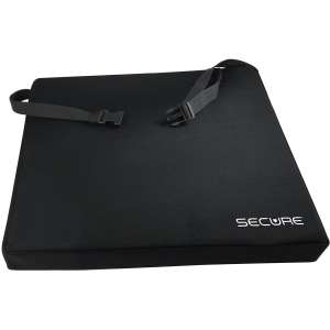 Secure SGSC-1 Gel Wheelchair Cushion with Safety Strap - Gel and Foam Orthopedic Seat Pad for Back Support
