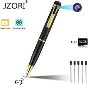 Spy Pen Hidden 1080P Portable Camcorder with 32GB Memory Card Covert for Business Conference