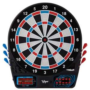 Viper 777 Electronic Dartboard, Easy To Use Button Interface, Red White And Blue Segments