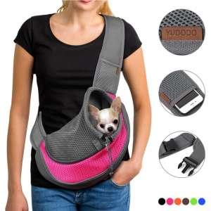 YUDODO Pet Dog Sling Carrier Breathable Mesh Travel Safe Sling Bag Carrier for Dogs Cats