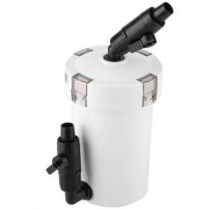Aquarium Fish Tank External Canister Filter with Pump Table Mute Filters Bucket HW-603