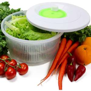 K Basix Large Salad Spinner 4.5 L – Vegetable or Lettuce Dryer