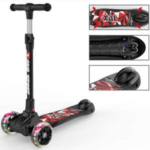 New Olym Kids Scooter for Toddlers 3 Wheel Scooter for Boy and Girls Big Flashing Wheels Adjustable Scooter with Safety Brake for Little Children Ages 2-12 Years