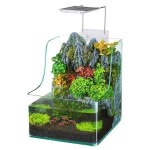 Penn-Plax Aqua Terrarium Planting Tank with Aquarium for Fish, Waterfall