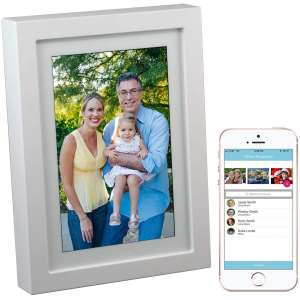 PhotoSpring 8 (16GB) 8-inch WiFi Cloud Digital Photo Frame - Battery, Touch-Screen, Plays Video and Photo Slideshows
