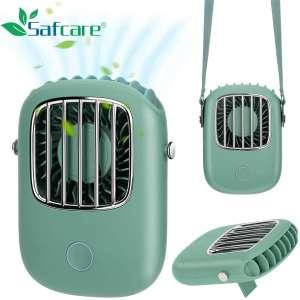 Portable Hands-Free Fan,Mini Fan Personal Fan USB Rechargeable Foldable Wearable Mute Lazy Fan