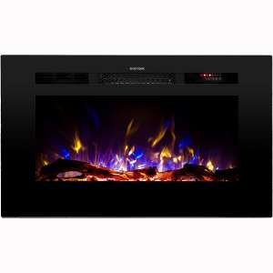 Touchstone Sideline Recessed Mounted Electric Fireplaces (28 inch)