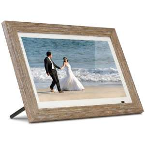 Aluratek 13 Distressed Wood Digital Photo Frame with 8GB Built-in Memory, Includes 2 Interchangeable Frames