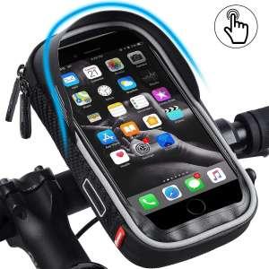 Bicycle Handlebar Bag, Waterproof Mobile Bag, Highly Sensitive Touch Screen