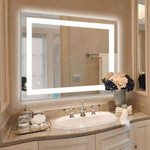 HAUSCHEN HOME 36 X 28 Inches LED Lighted Bathroom Mirror