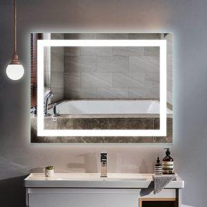 HAUSCHEN HOME LED Lighted Vanity Bathroom Mirror