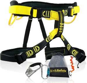 KwikSafety Charlotte, NC Mandrill Combo Pack Comfort Climbing Harness, Heavy Duty Locking Carabiner