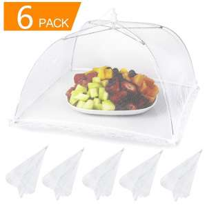 Lauon 17 x 17 Inches Food Cover Mesh Tents 6 Pack