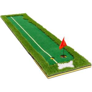 TC Sports Putting Green, Portable Golf Putting Green Indoor Mat for Home Golf Putter Practice and Training in Indoor