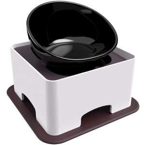 X@HE Tall Ceramic Dog Bowls Elevated, Adjustable Raised Dog Bowls Set
